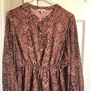 Madewell Long Sleeve Lined Blouse